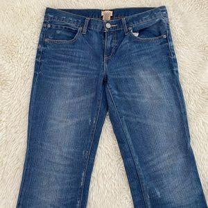 Slim Boyfriend Distressed Jeans
